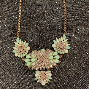 NEVER WORN Mint Green Statement Necklace